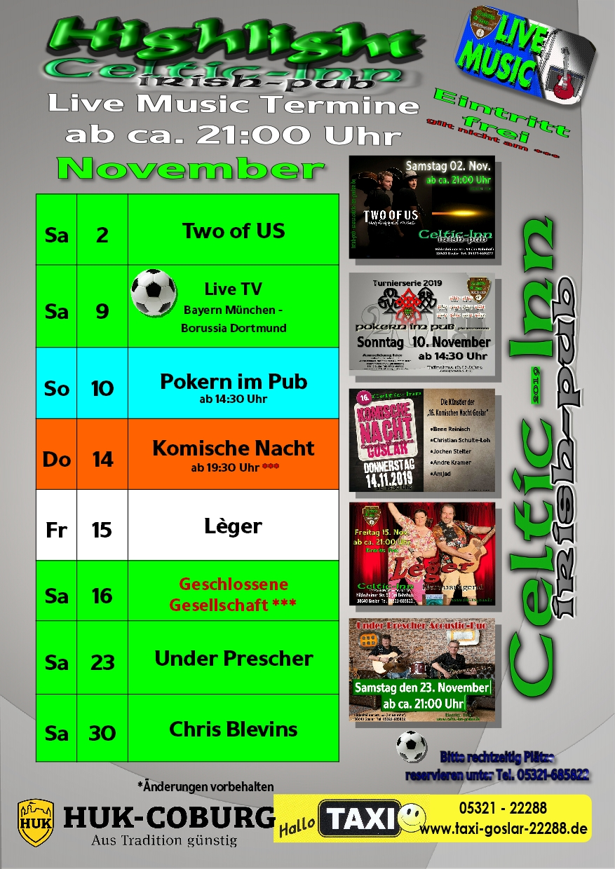 Events im Celtic